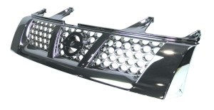 chromium plated car grill